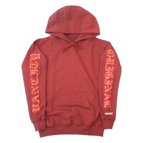 OG Sleeve Hoodie - Currant/Infrared