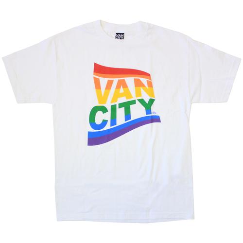 Vancity® Pride Flag Tee - White
