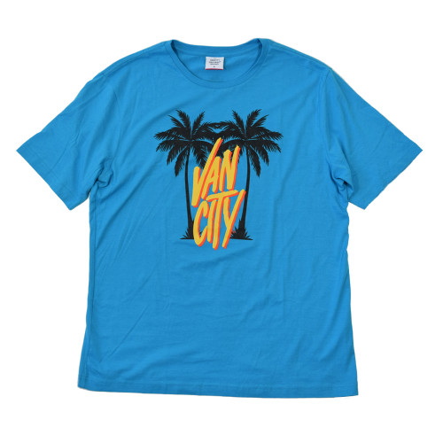 Palm City Tee - Pacific Blue