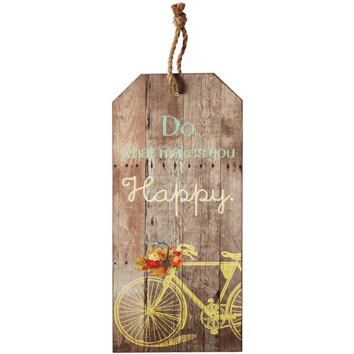 Do What Makes You Happy Bicycle Wall Decor