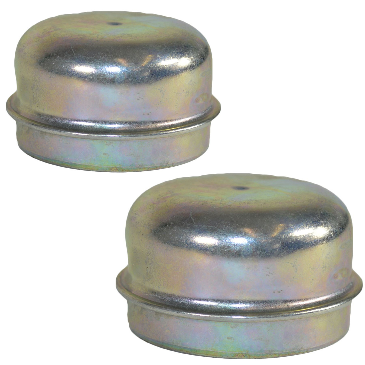 2 Replacement 50mm Metal Dust Cap Wheel Hub Trailer Bearing Grease Cover
