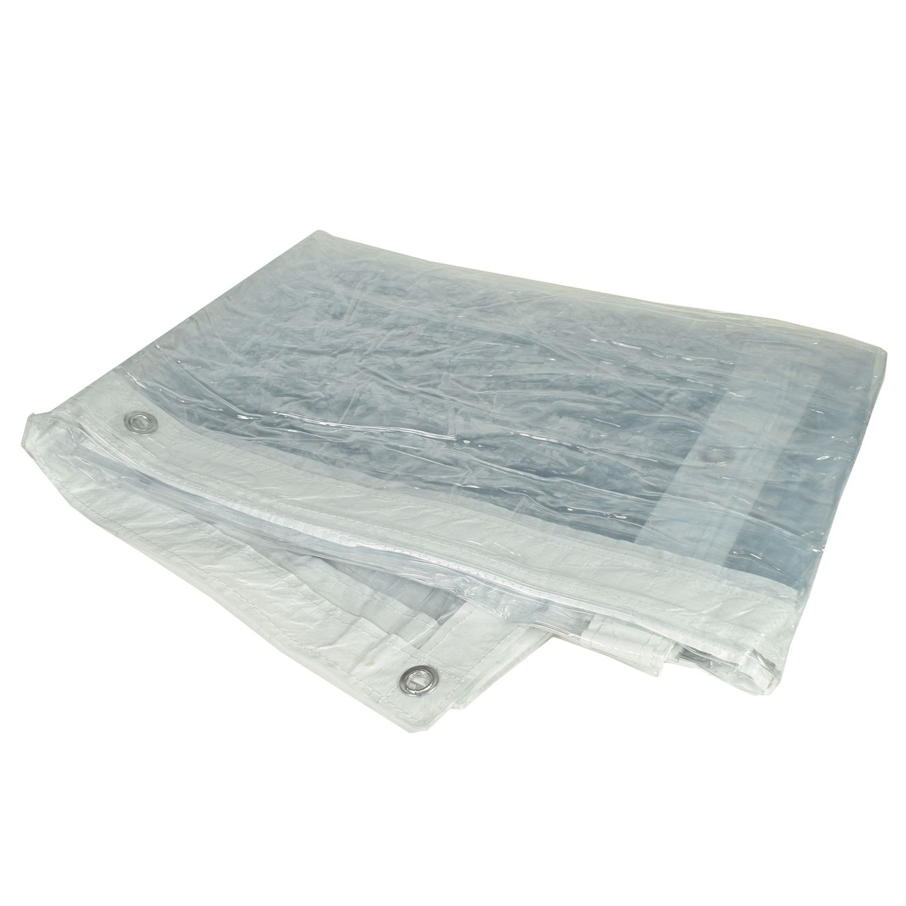 Clear PVC See Through Tarpaulin Sheet Cover Waterproof 2m x 3m Market Stalls