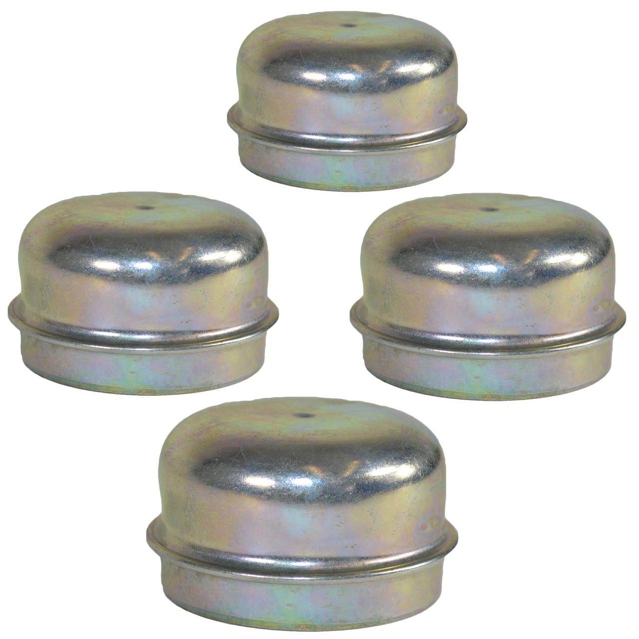 4 Replacement 50mm Metal Dust Cap Wheel Hub Trailer Bearing Grease Cover