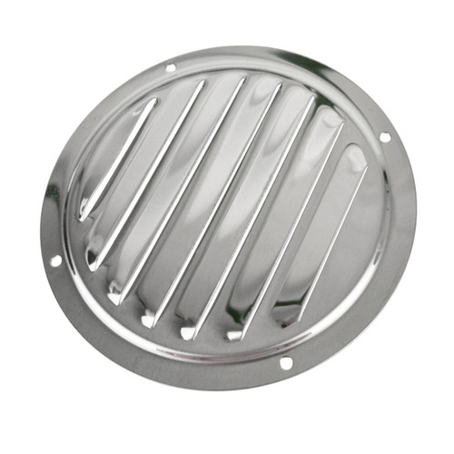 Louvre Vent Air Ventilator Grill Round Stainless Steel Marine Grade 316 DK86