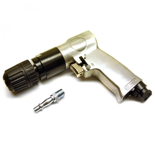 "Reversible Air Drill 10mm 3/8"" Keyless Chuck Pistol Angle Drill SIL05"
