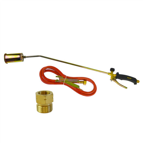 Propane Gas Torch Burner 2m Hose Regulator Roofer Plumber Weed Kit TE457