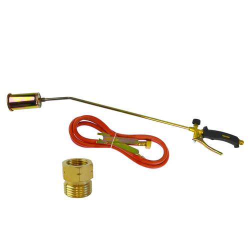 Propane Gas Torch Burner 2m Hose Regulator Roofer Plumber Weed Kit TE457
