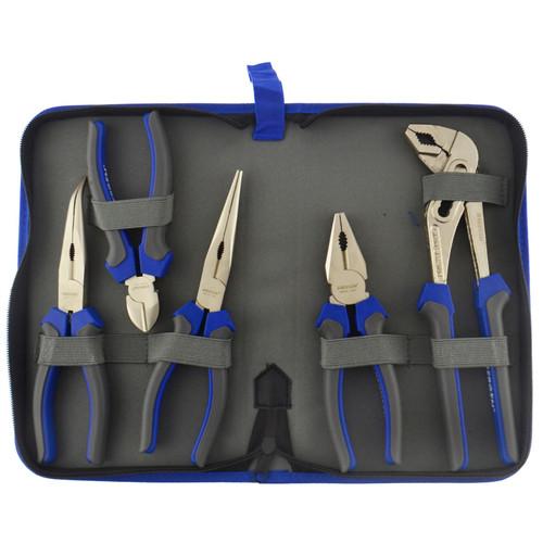 5pc Pliers Set Combination / Long nose / Cutters / Waterpump plier AU050