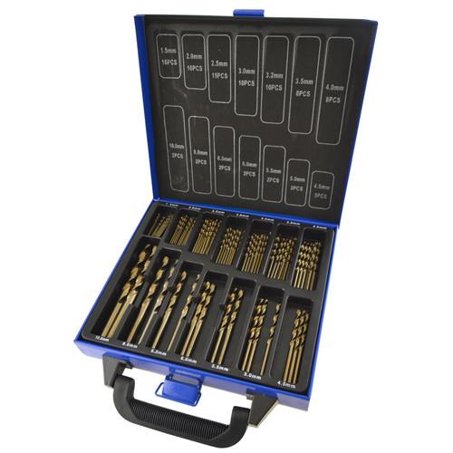 99pc Cobalt M35 Drills Metric For Stainless Steel HSS-CO 135 Deg 1.5-10mm TE851