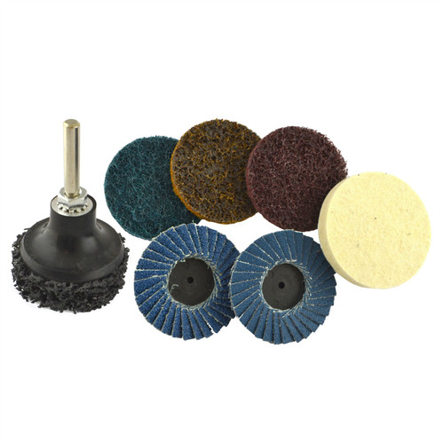 "9pc Sanding & Prepping 2"" Pads Buffer Buffing Stripping Flap Discs Rotary TE880"