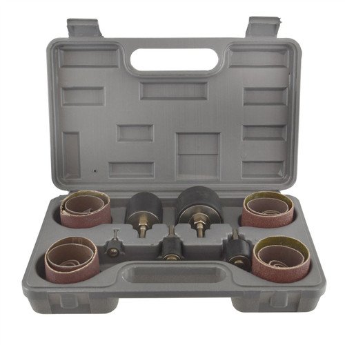80 Grit Drum Sanding Rotary Kit In Case Spindle Sander 13 19 25 38 50mm SIL326