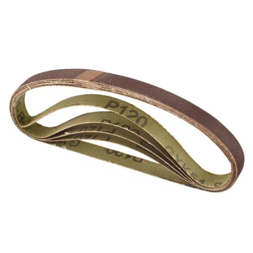 Belt Power Finger File Sander Abrasive Sanding Belts 330mm x 10mm 120 Grit 5 PK