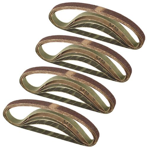 Belt Power Finger File Sander Abrasive Sanding Belts 330mm x 10mm 80 Grit 20 PK