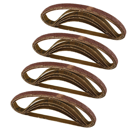 Belt Power Finger File Sander Abrasive Sanding Belts 330mm x 10mm 60 Grit 20 PK