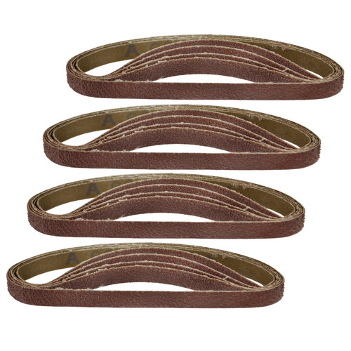 Belt Power Finger File Sander Abrasive Sanding Belts 330mm x 10mm 60 Grit 20 PK
