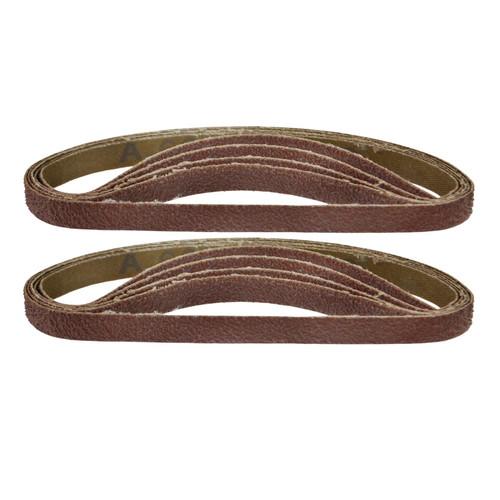 Belt Power Finger File Sander Abrasive Sanding Belts 330mm x 10mm 60 Grit 10 PK