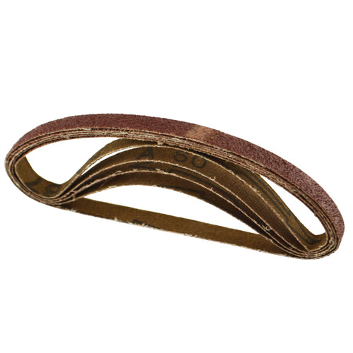 Belt Power Finger File Sander Abrasive Sanding Belts 330mm x 10mm 60 Grit 5 PK
