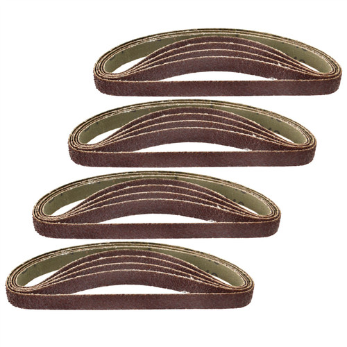 Belt Power Finger File Sander Abrasive Sanding Belts 330mm x 10mm 40 Grit 20 PK