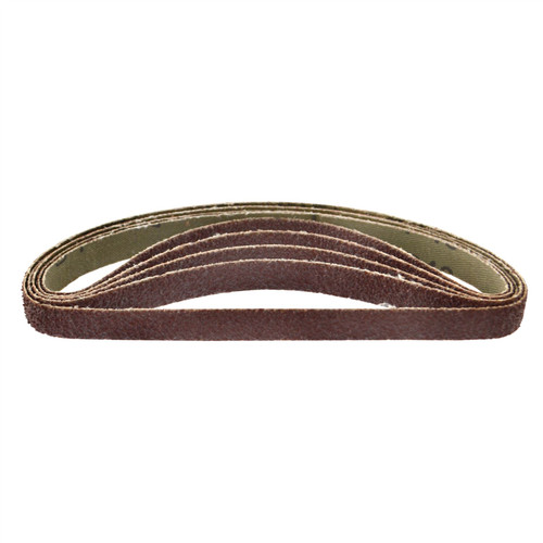 Belt Power Finger File Sander Abrasive Sanding Belts 330mm x 10mm 40 Grit 5 PK