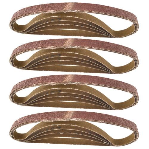 Belt Power Finger File Sander Abrasive Sanding Belts 457mm x 13mm 60 Grit 20 PK