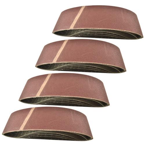 Belt Power Finger File Sander Abrasive Sanding Belts 533mm x 75mm 120 Grit 20 PK