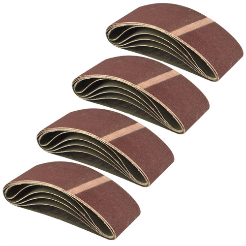 Belt Power Finger File Sander Abrasive Sanding Belts 400mm x 60mm 120 Grit 20 PK