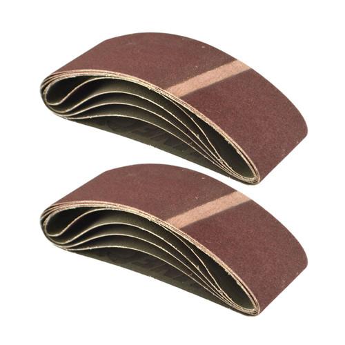 Belt Power Finger File Sander Abrasive Sanding Belts 400mm x 60mm 120 Grit 10 PK