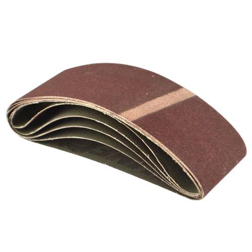Belt Power Finger File Sander Abrasive Sanding Belts 400mm x 60mm 120 Grit 5 PK