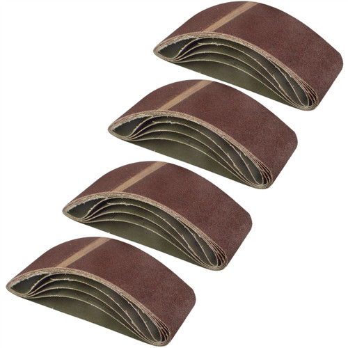 Belt Power Finger File Sander Abrasive Sanding Belts 400mm x 60mm 80 Grit 20 PK