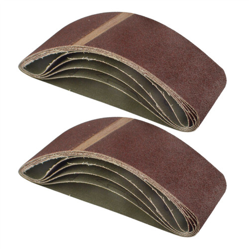Belt Power Finger File Sander Abrasive Sanding Belts 400mm x 60mm 80 Grit 10 PK