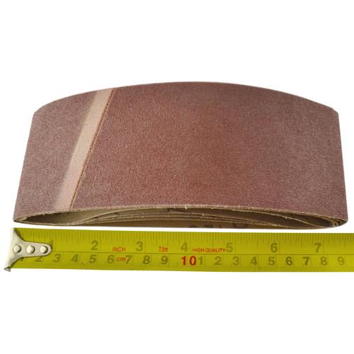 Belt Power Finger File Sander Abrasive Sanding Belts 410mm x 65mm 120 Grit 5 PK