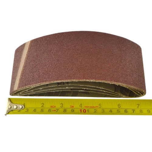 Belt Power Finger File Sander Abrasive Sanding Belts 410mm x 65mm 80 Grit 10 PK