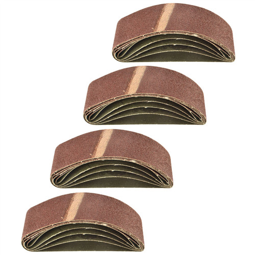 Belt Power Finger File Sander Abrasive Sanding Belts 305mm x 40mm 80 Grit 20 PK