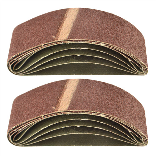 Belt Power Finger File Sander Abrasive Sanding Belts 305mm x 40mm 80 Grit 10 PK