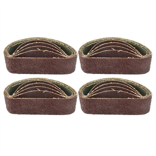 Belt Power Finger File Sander Abrasive Sanding Belts 305mm x 40mm 40 Grit 20 PK
