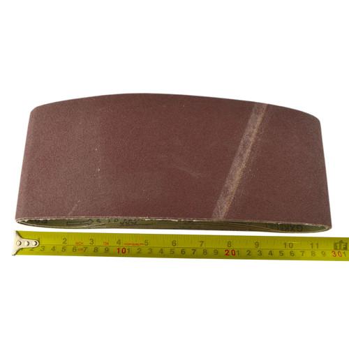Belt Power Finger File Sander Abrasive Sanding Belts 610mm x 100mm 80 Grit 5 PK