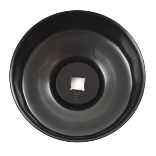 80mm 15 Flute Cup Oil Filter Socket Remover Removal Tool For Honda Nissan Subaru