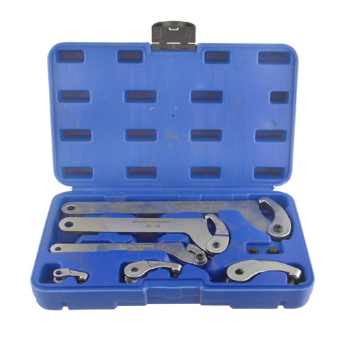 Adjustable Hook And Pin Wrench / Spanner / C Spanner 35 - 120mm 6pcs Bergen