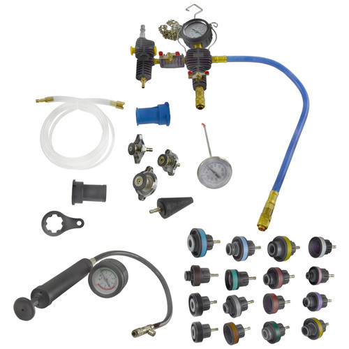 Pneumatic Radiator Pressure Tester And Vacuum Type Cooling System Kit And Adapters
