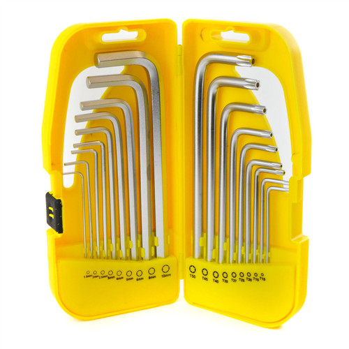 Long Hex / Allen / Torx / Tamper Key Set 18pc 1.5 - 10mm / T10 - T50 Bergen