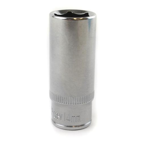 """14mm 1/4"""" Drive Double Deep Metric Socket Single Hex / 6 sided Bergen"""