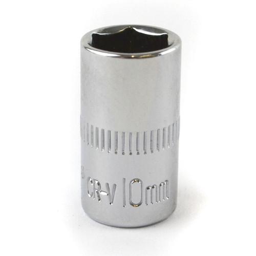 "10mm 1/4"" Drive Shallow Metric Socket Single Hex / 6 sided Bergen"