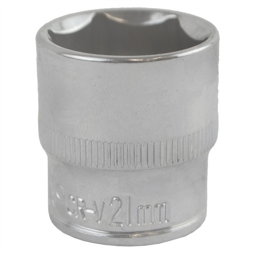 "21mm 3/8"" Drive Shallow Metric Socket Single Hex / 6 sided Bergen"