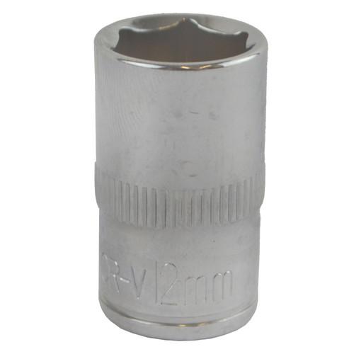"12mm 3/8"" Drive Shallow Metric Socket Single Hex / 6 sided Bergen"