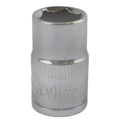 "11mm 3/8"" Drive Shallow Metric Socket Single Hex / 6 sided Bergen"