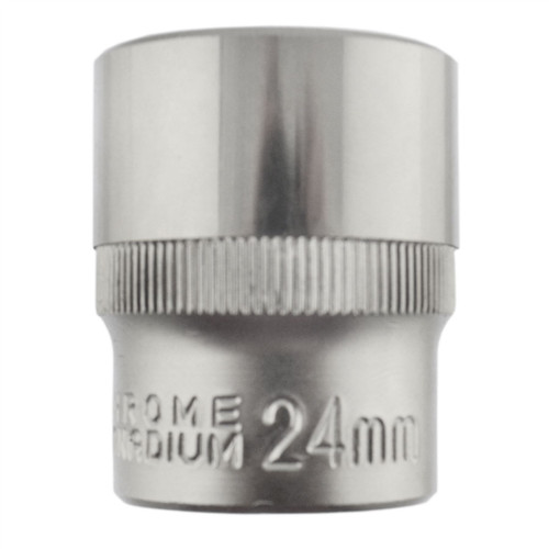 "24mm 1/2"" Dr Socket Super Lock Metric Shallow CRV Knurl Grip 6 Point TE796"