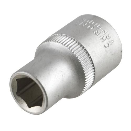 "10mm 1/2"" Dr Socket Super Lock Metric Shallow CRV Knurl Grip 6 Point TE801"