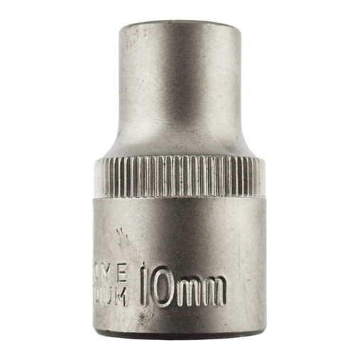 "10mm 1/2"" Dr Socket Super Lock Metric Shallow CRV Knurl Grip 6 Point TE801"