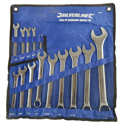 "14pc AF SAE Imperial Spanner Combination Wrench Open End Ring 1/4"" - 1-1/4"""