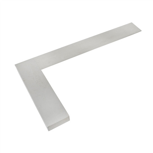 """10"""" (250mm) Engineers Tri Square Set Square Right Angle Straight Edge Steel SIL121"""